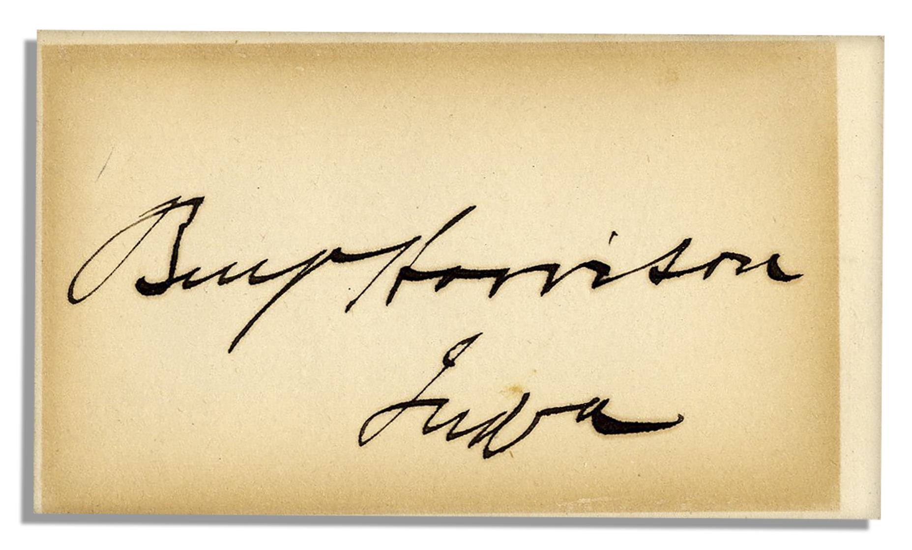 Harrison Signature Benjamin Harrison Signature