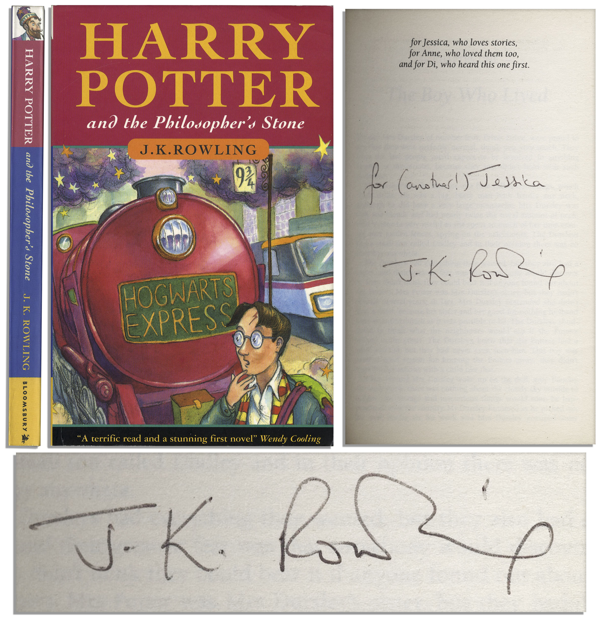 Harry Potter Book Worth ~ Lot detail scarce first printing of quot harry potter and