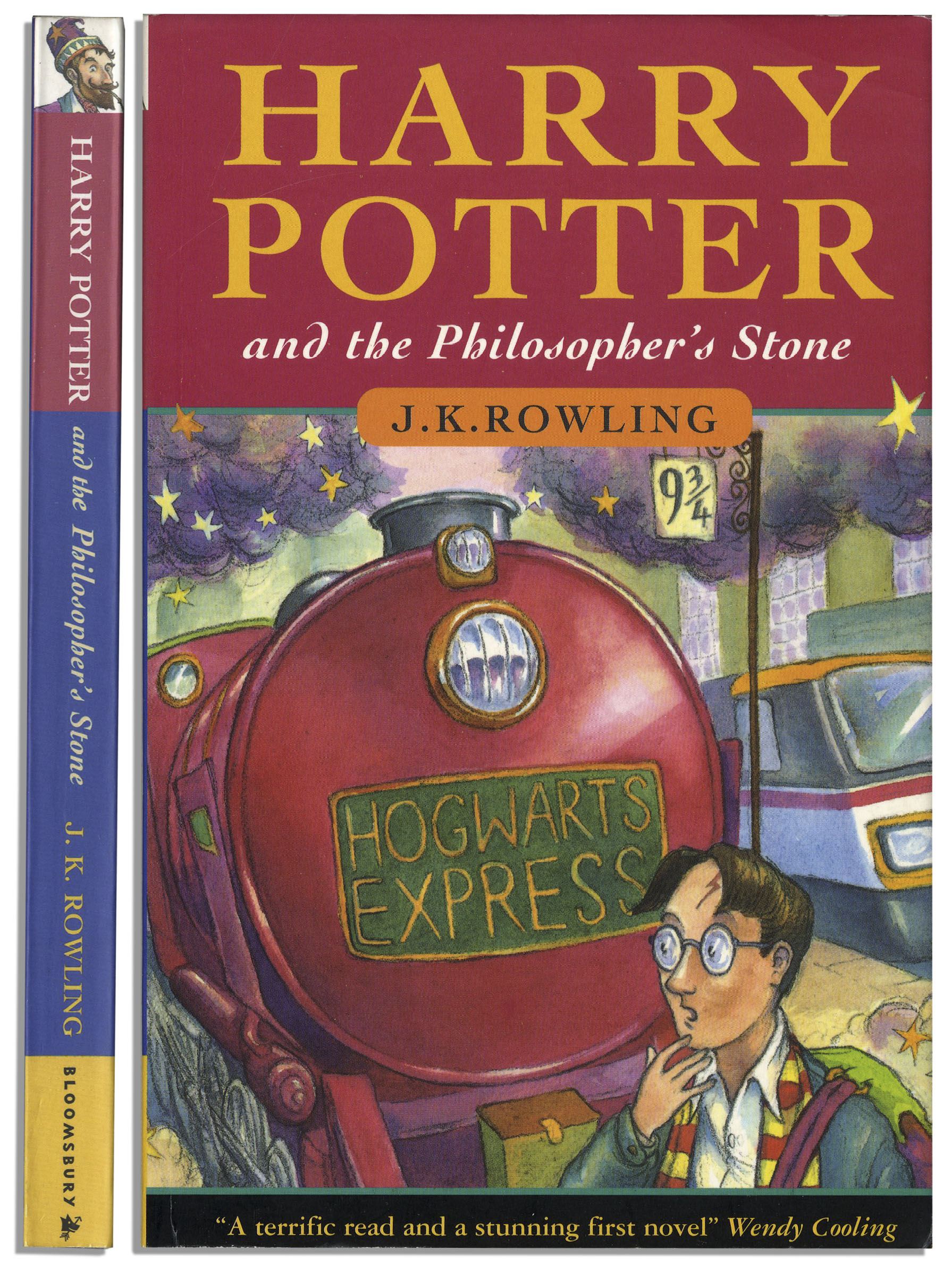 Scarce First Printing Of Harry Potter And The Philosopher S Stone Signed By J K Rowling