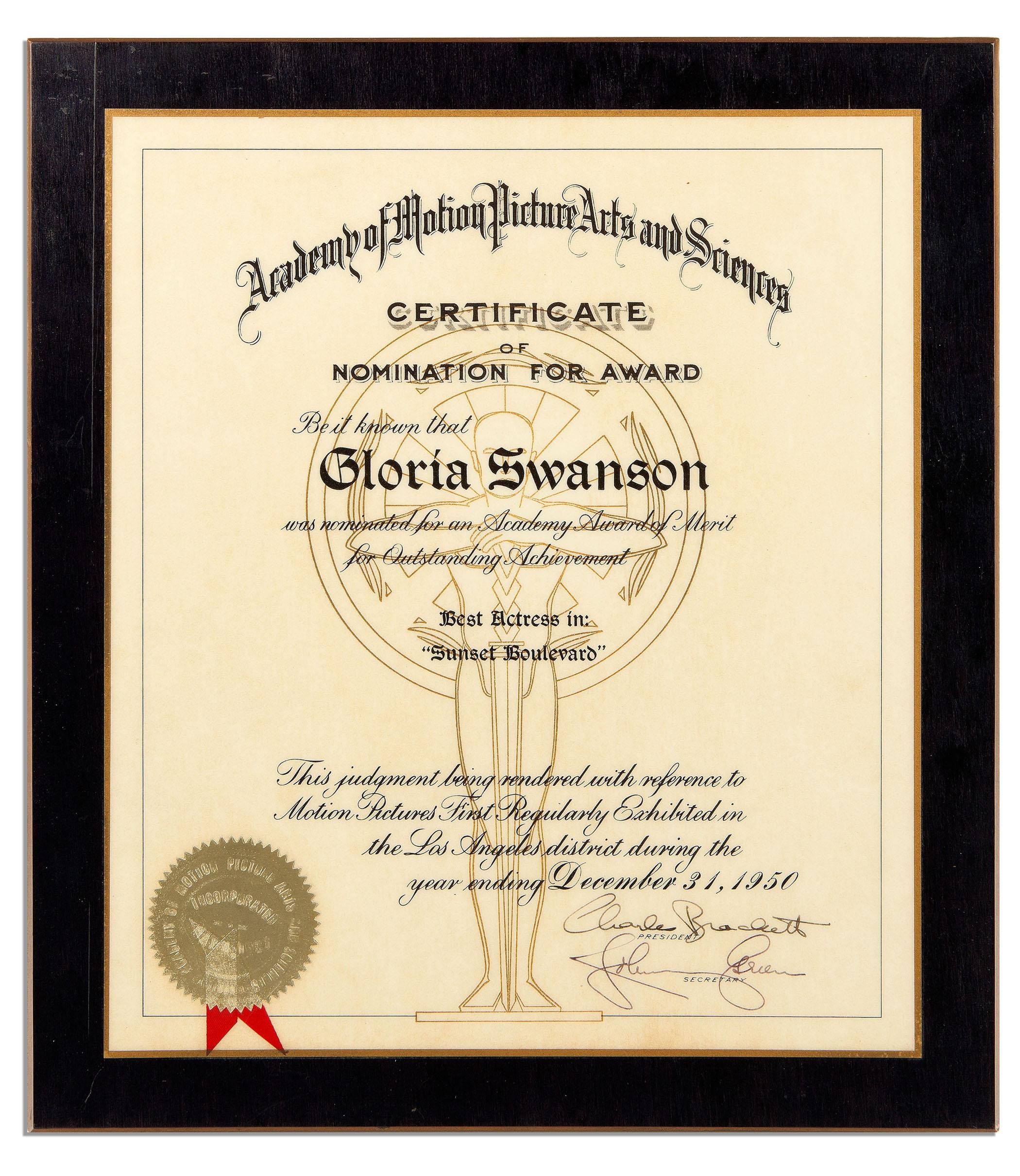 Gloria Swanson Memorabilia