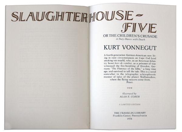 the themes of literary devices in slaughterhouse five by kurt vonnegut An in-depth discussion of different literary qualities and writing techniques used throughout slaughterhouse-five by kurt vonnegut part of a detailed study guide by bookragscom.