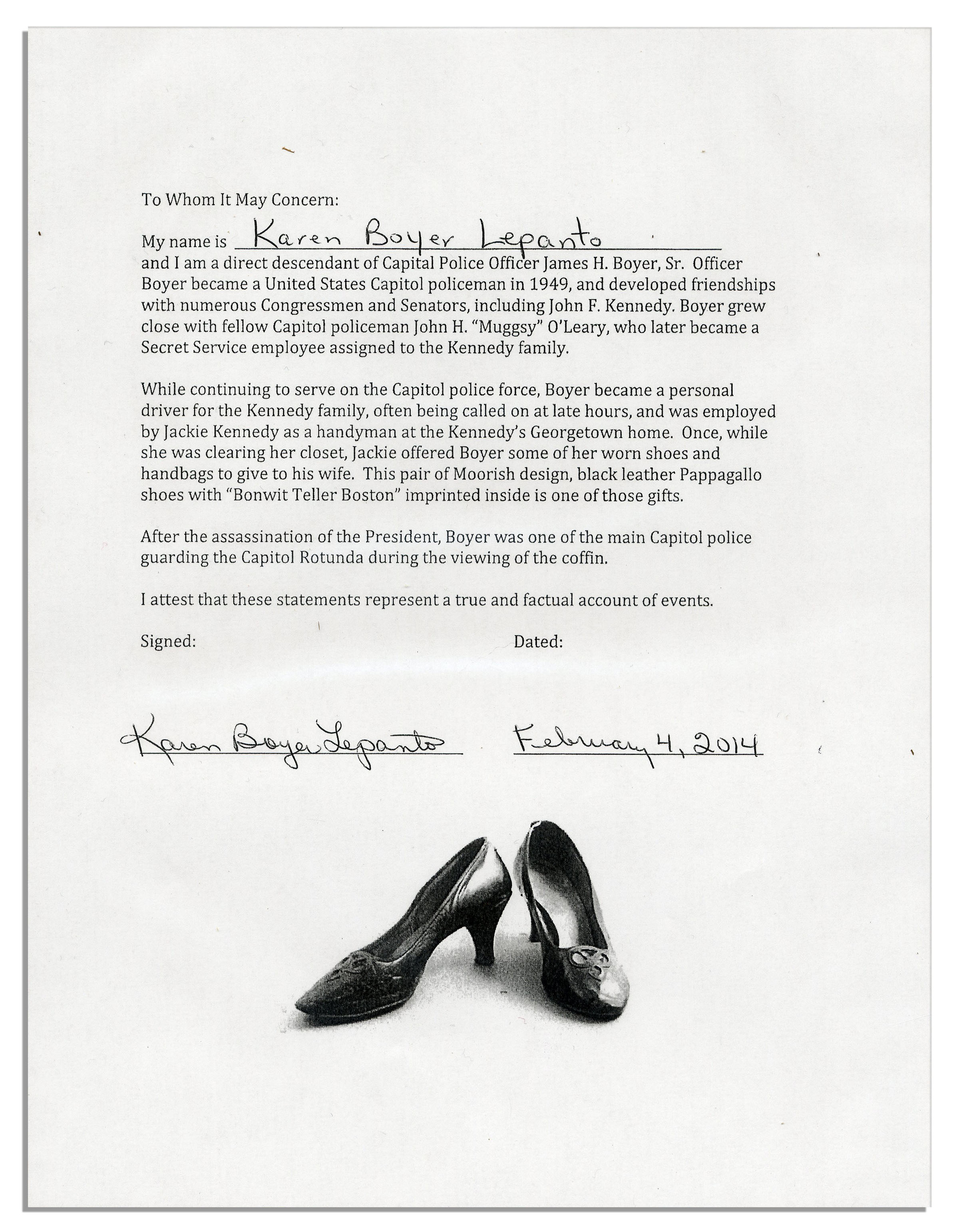 Jackie Kennedy Shoes: Jackie Kennedy Personally Owned & Worn Shoes