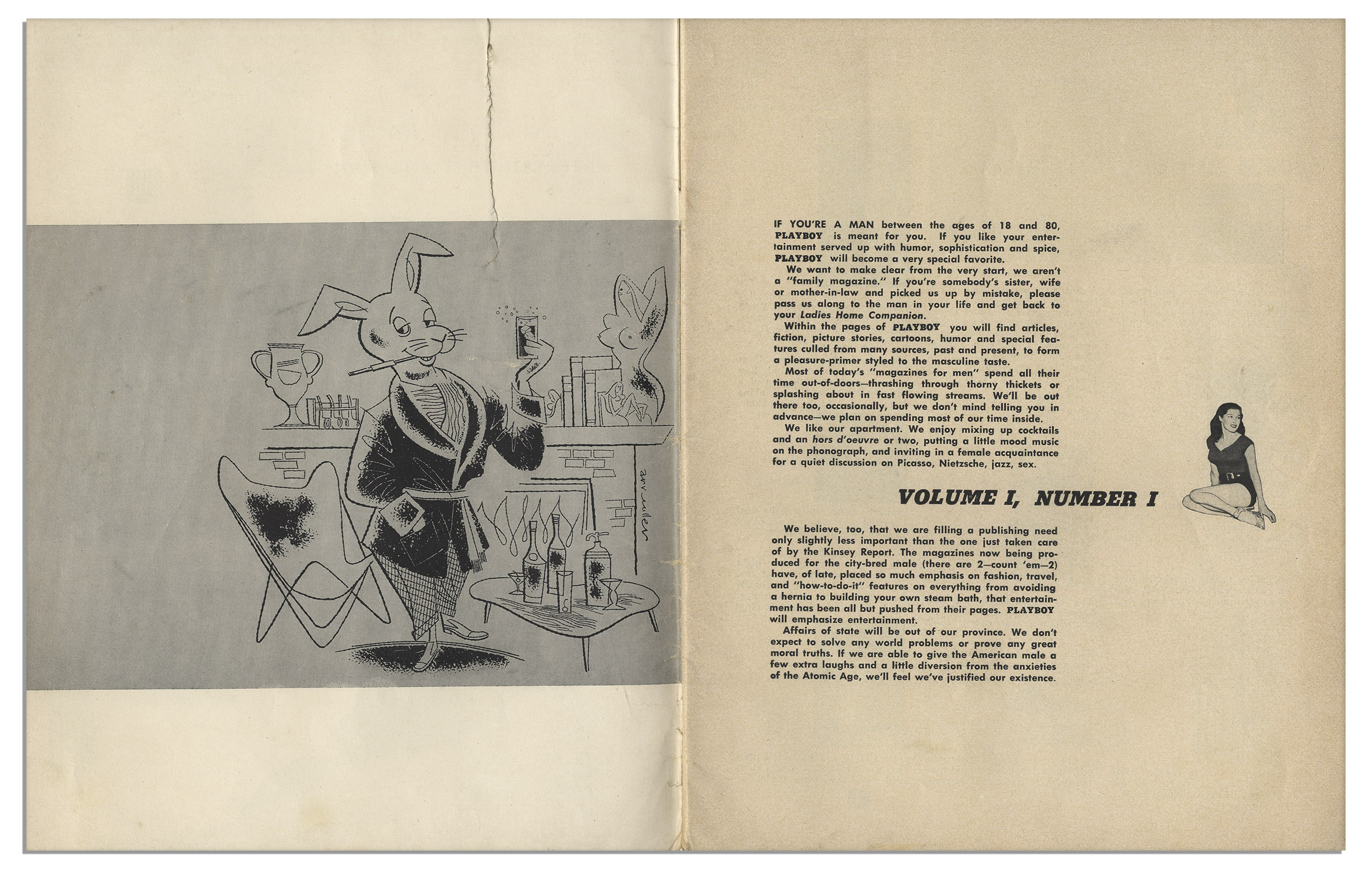 Lot Detail - Playboy Magazine December 1953 First