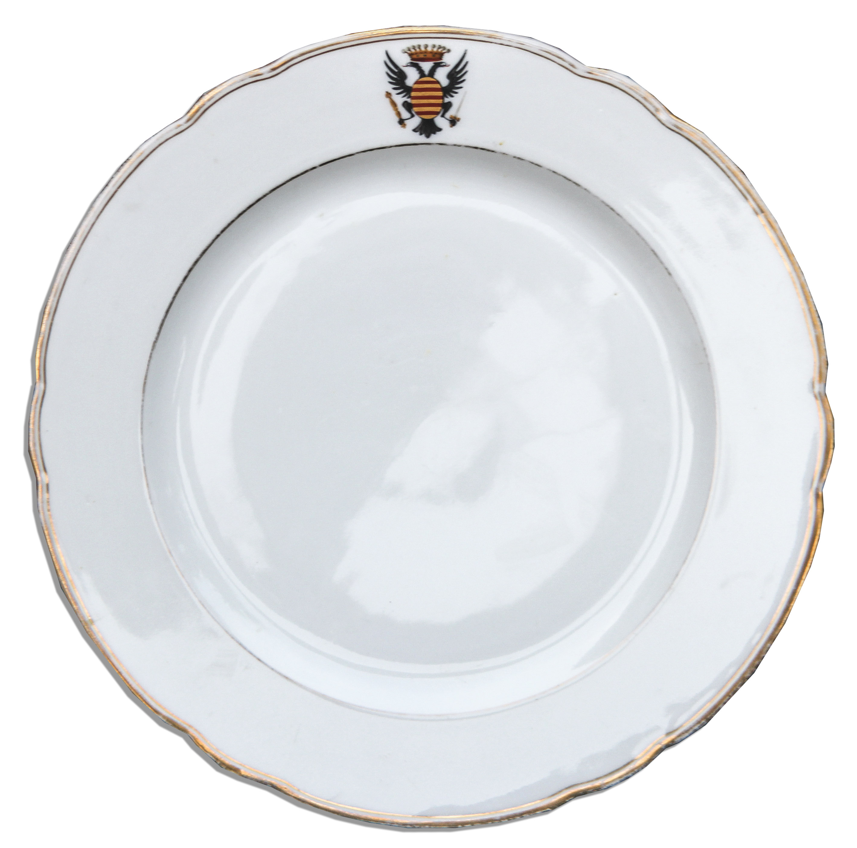 Russian Imperial China Plate -- With the Double-Headed Eagle Coat of Arms ...  sc 1 st  Nate D Sanders & Lot Detail - Russian Imperial China Plate -- With the Double-Headed ...