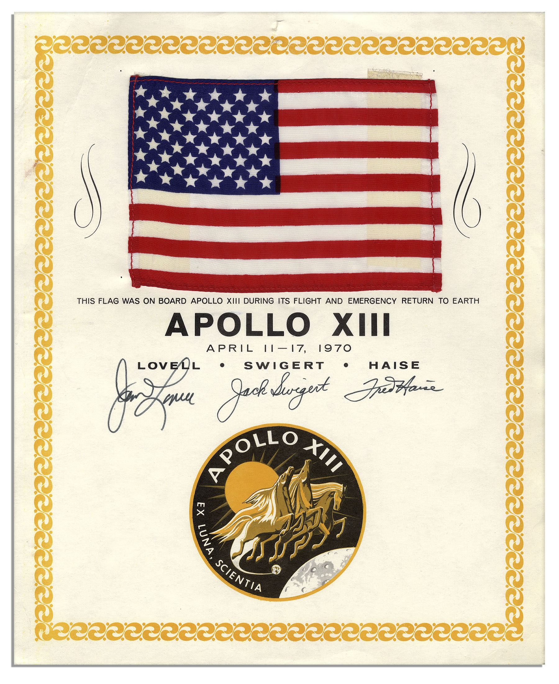Apollo 13 flown