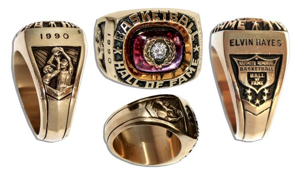 Elvin Hayes Hall of Fame Induction Ring, Obtained Directly from Him, Who is One of the 50th Greatest Players in NBA History