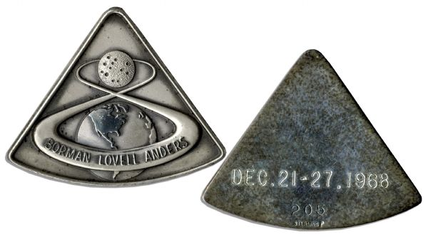 Apollo 8 Robbins Medal Flown