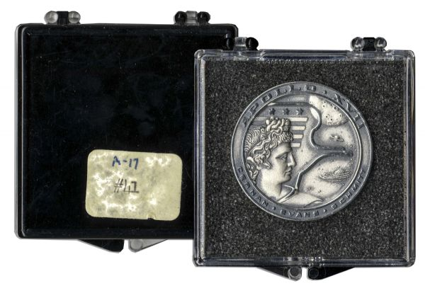Apollo 11 Checklist Jack Swigert's Own Apollo 17 Flown Robbins Medal, Serial Number 41