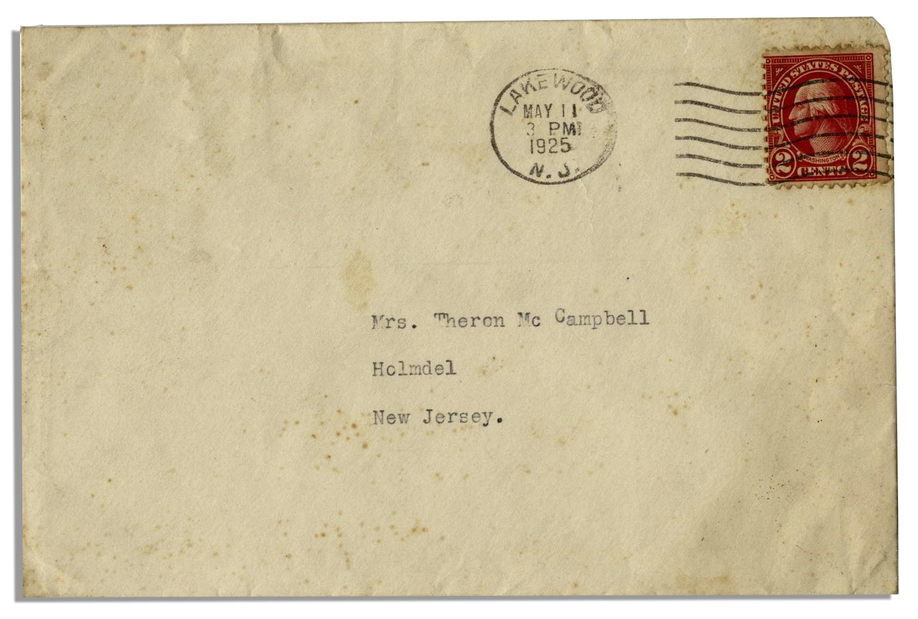 Lot Detail - John D  Rockefeller Typed Letter Signed