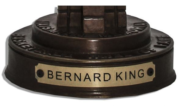 Bernard King's Basketball Hall of Fame Trophy