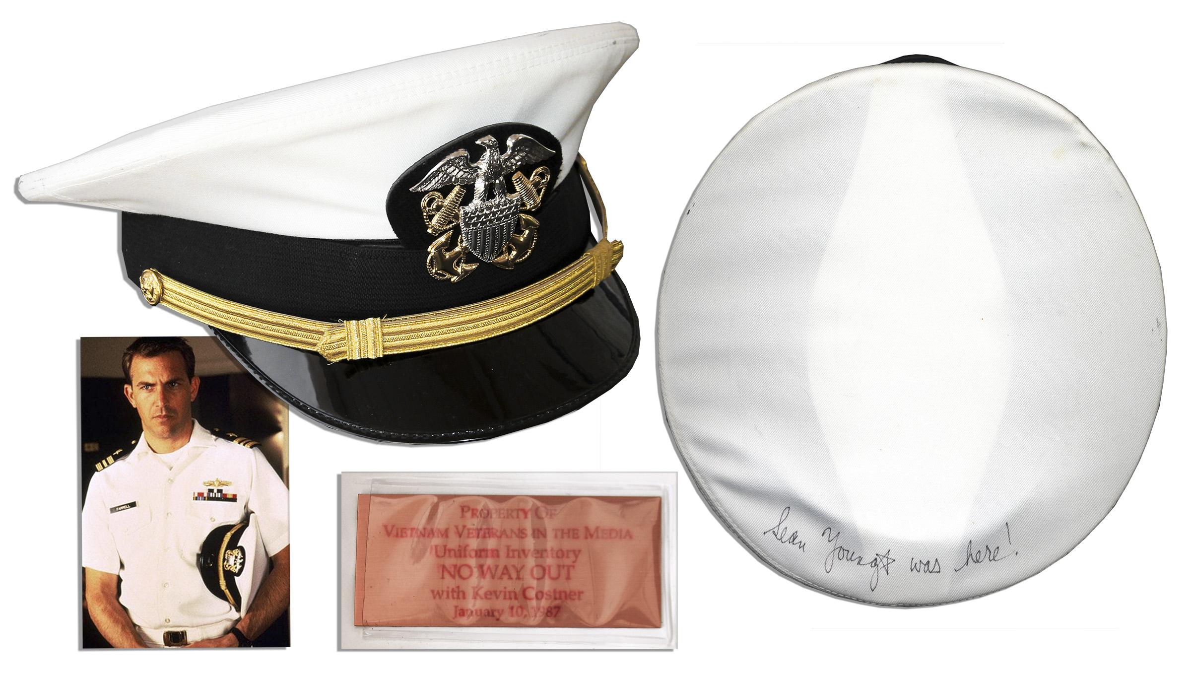 lot detail kevin costner navy dress hat from 39 39 no way. Black Bedroom Furniture Sets. Home Design Ideas