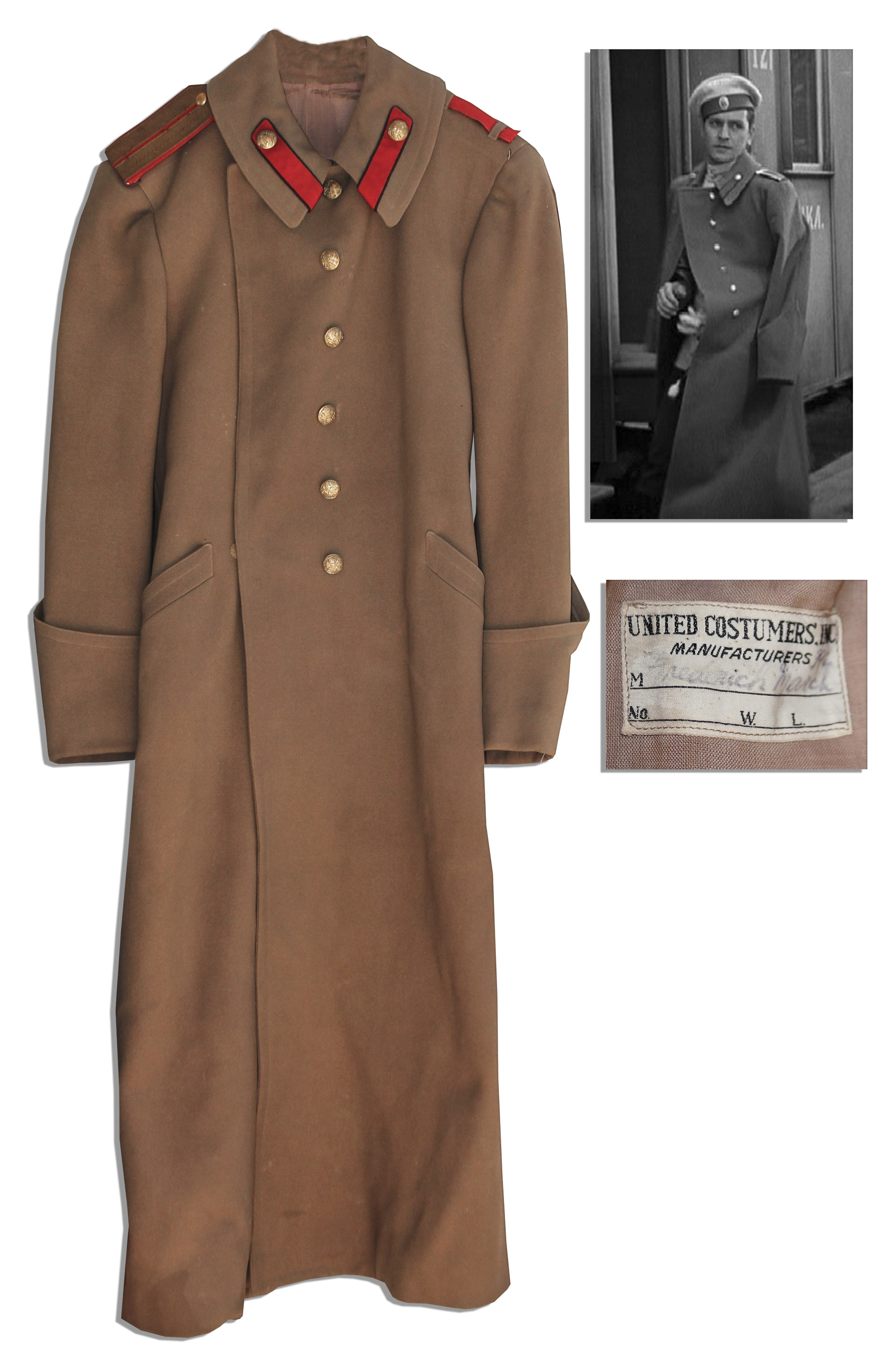 Lot Detail - Fredric March Wool Russian Army Coat From ''We Live ...