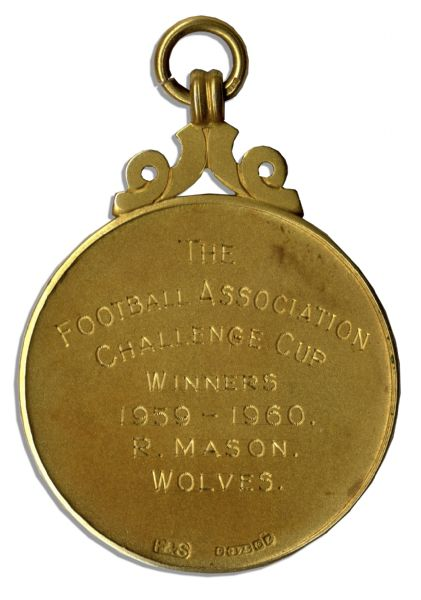 F.A. Cup Gold Medal From 1960 -- Awarded to Robert Mason