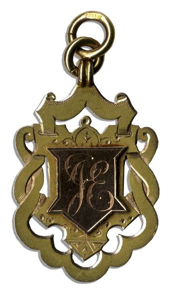 19th Century Football Gold Medal From Aston Villa's Win at the 1894-95 Birmingham and District Football League Championship