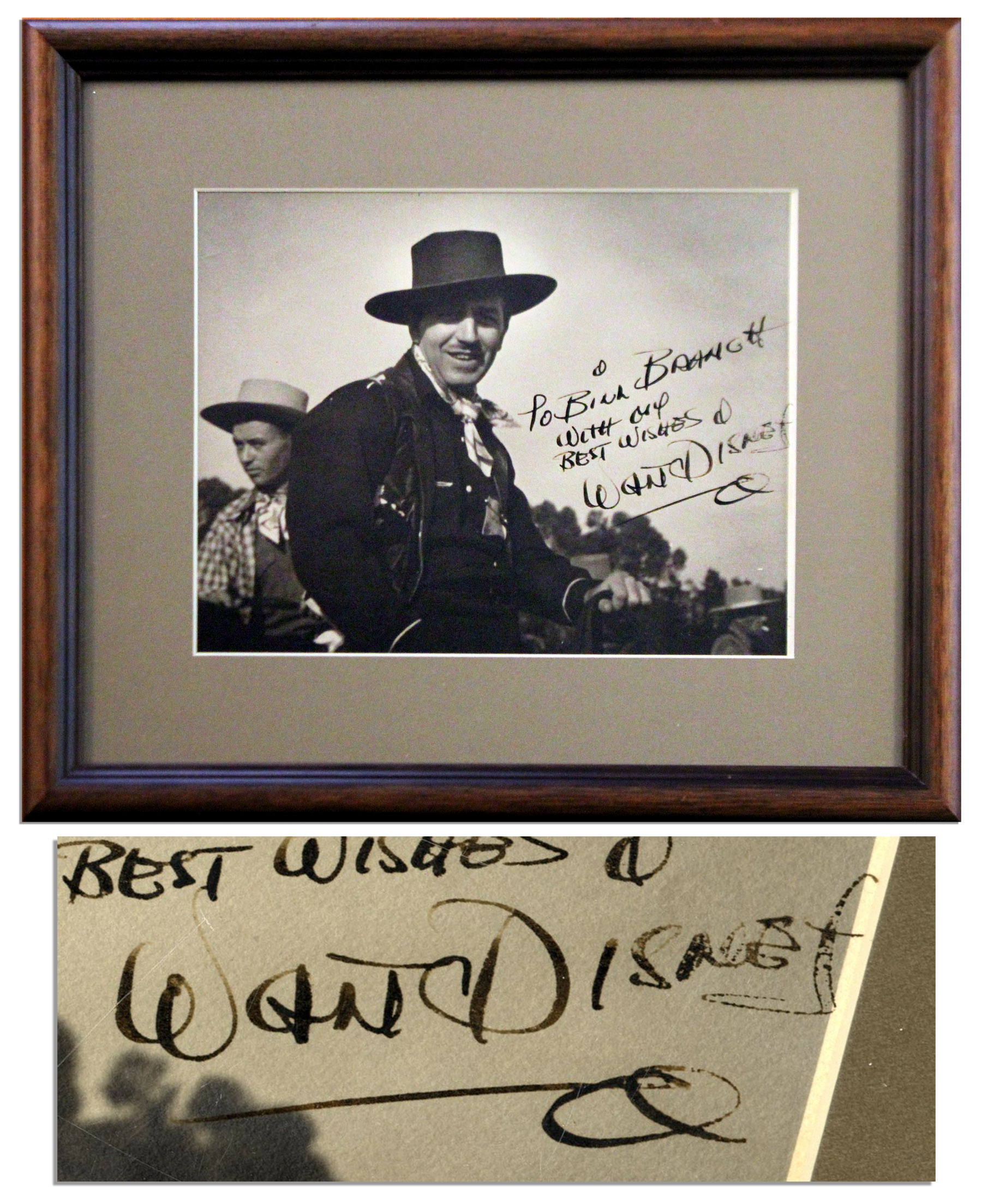 Walt Disney Autograph Walt Disney Signed Vintage Photo -- With PSA/DNA COA
