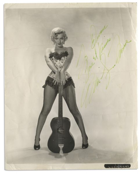 Marilyn Monroe dress auction Fantastic Marilyn Monroe Signed 8'' x 10'' Photo -- ''...Love & Kisses...'' -- With COA's From Both PSA/DNA & JSA