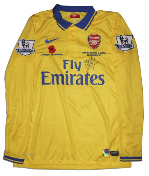 Arsenal Football Shirt Match Worn and Signed by Mikel Arteta