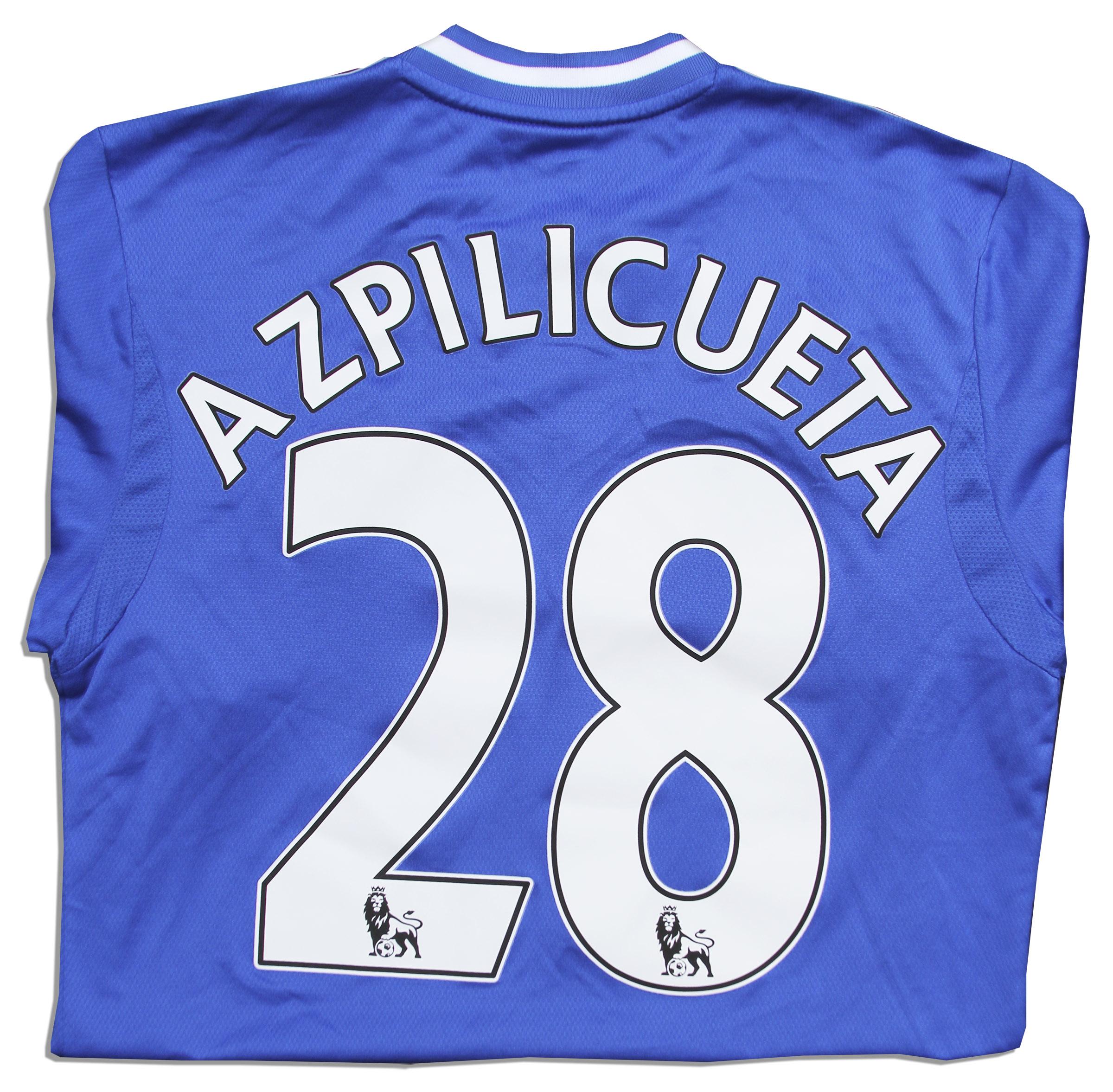 best authentic fd1cf bc9d5 Lot Detail - Cesar Azpilicueta Match Worn Chelsea Football ...