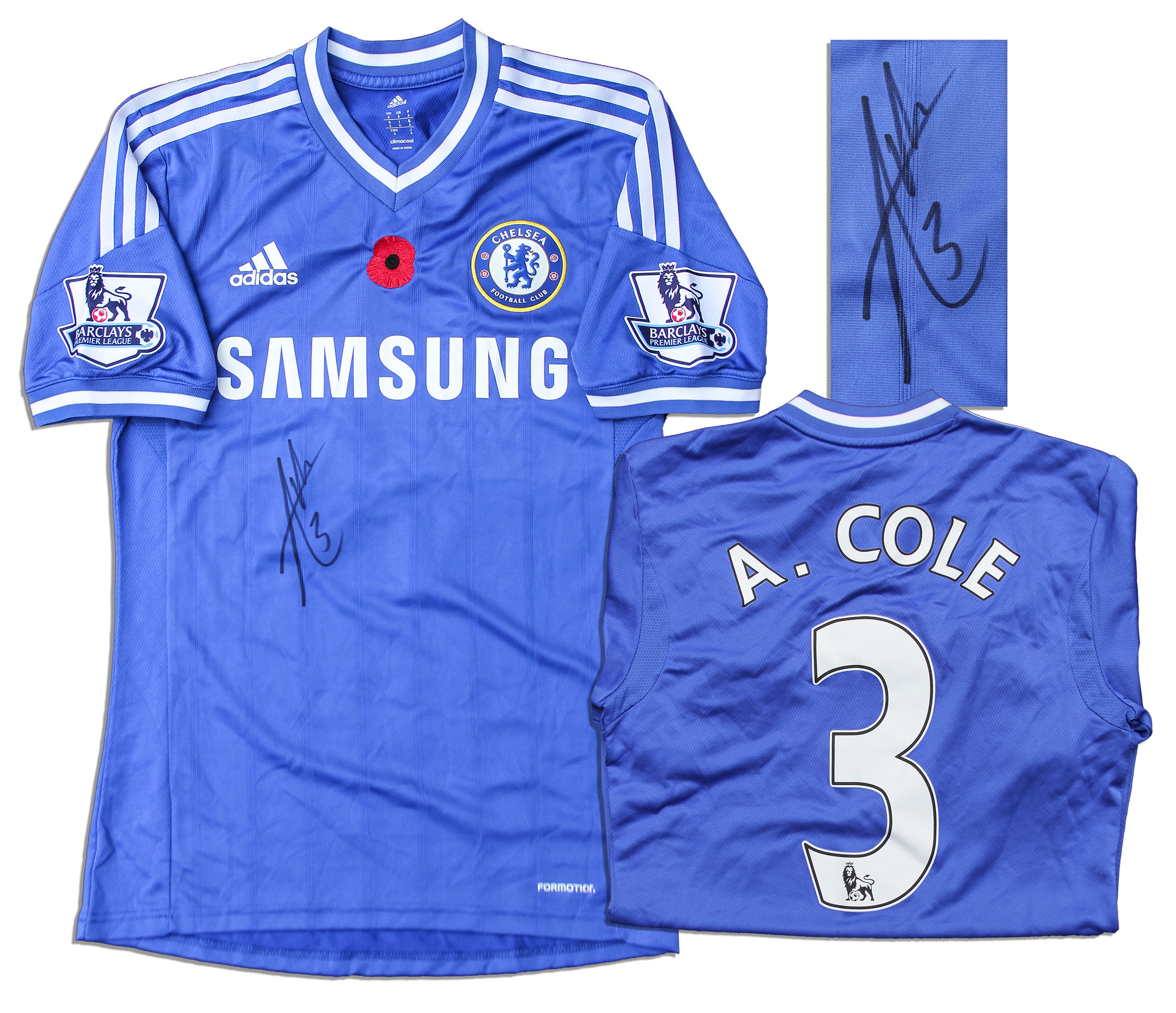 Lot Detail Ashley Cole Chelsea Football Shirt Signed