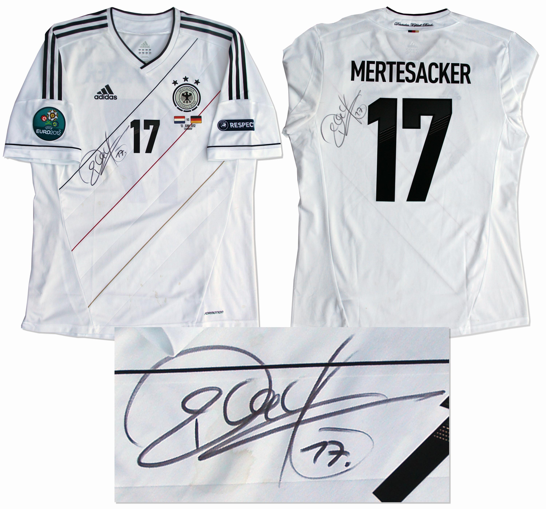 Lot Detail Per Mertesacker Match Worn Jersey Signed