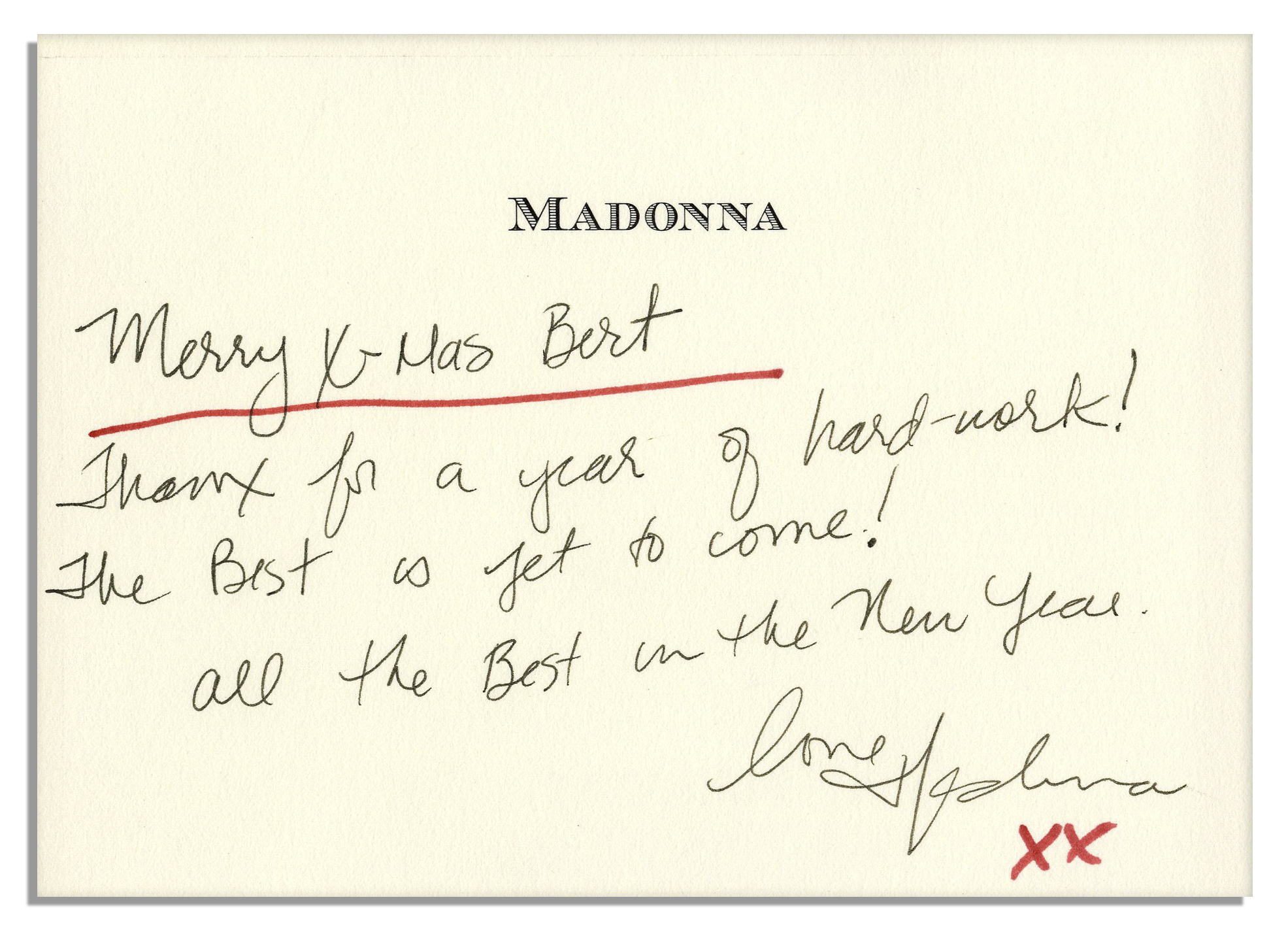 Madonna Autograph