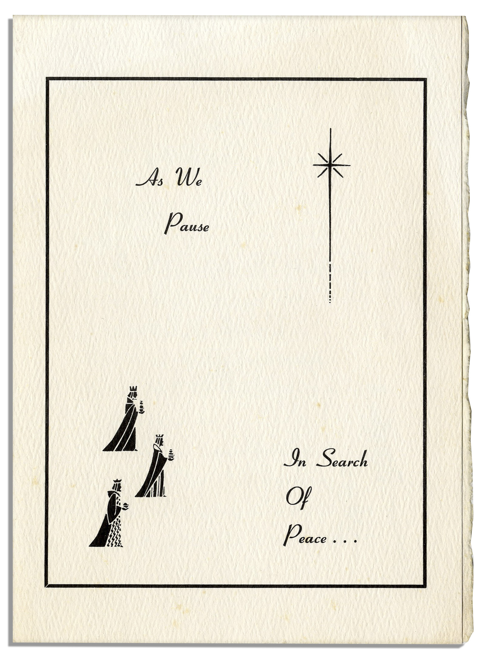 Lot Detail - Christmas Card Sent by Martin Luther King, Jr. & Family ...