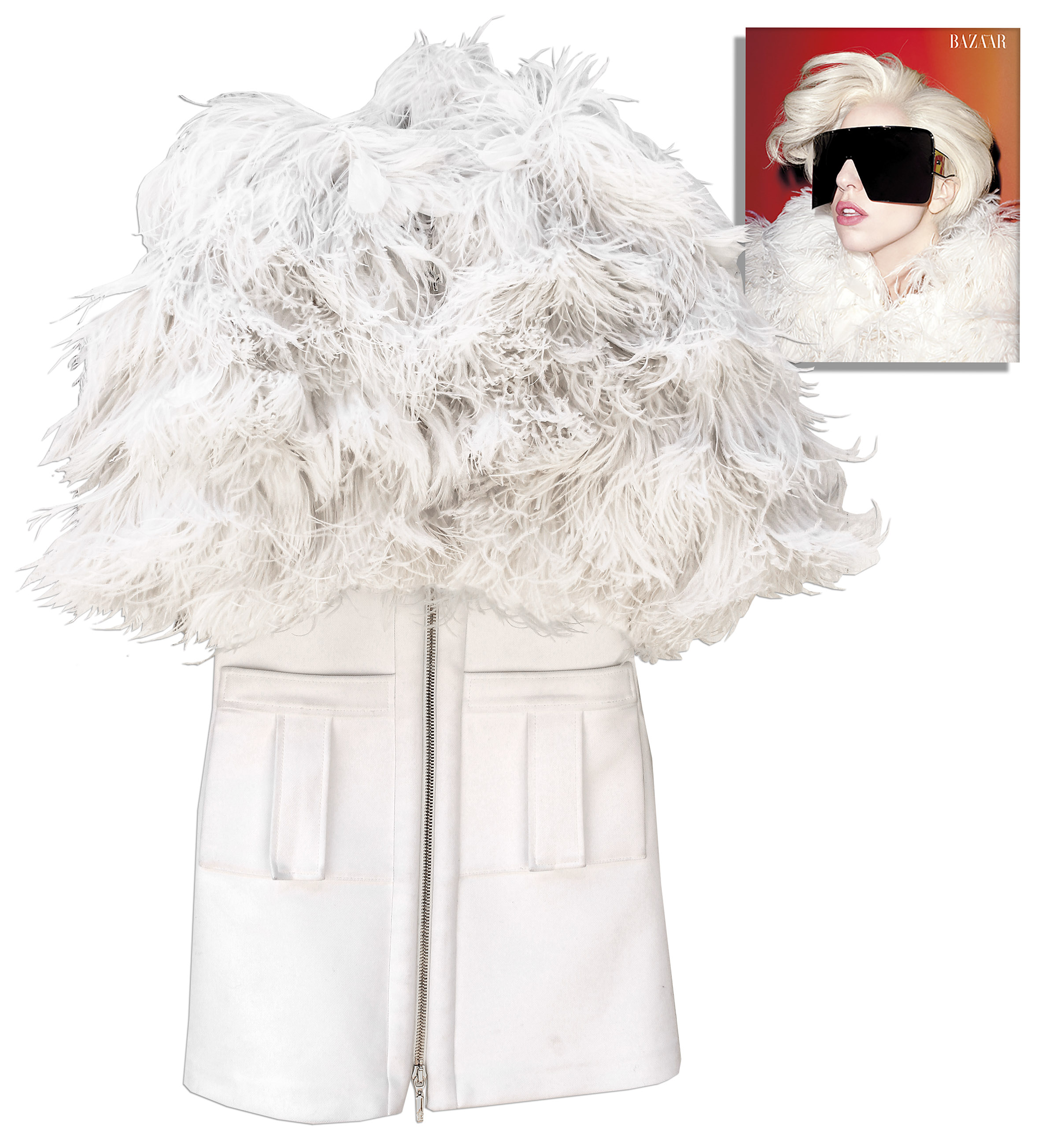Lady Gaga costume Lady Gaga Worn Moncler Gamme Rouge Jacket From ''Harper's Bazaar'' Cover Shoot