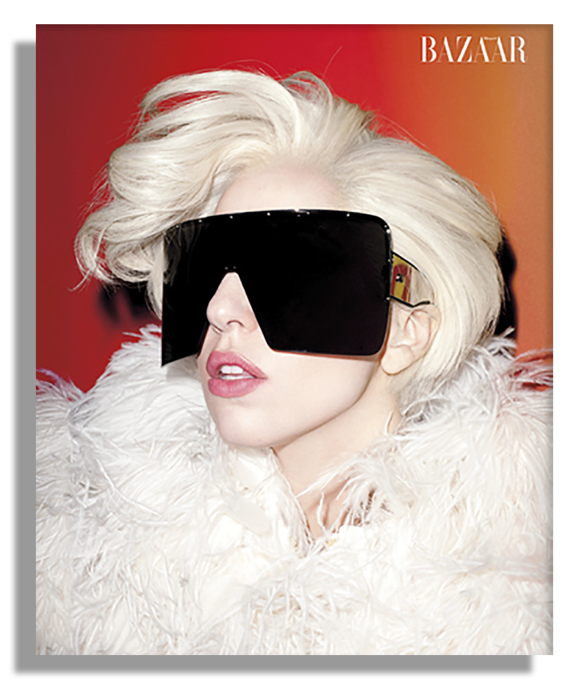 f7e67d7630b ... Lady Gaga Worn Moncler Gamme Rouge Jacket From   Harper s Bazaar    Cover Shoot ...