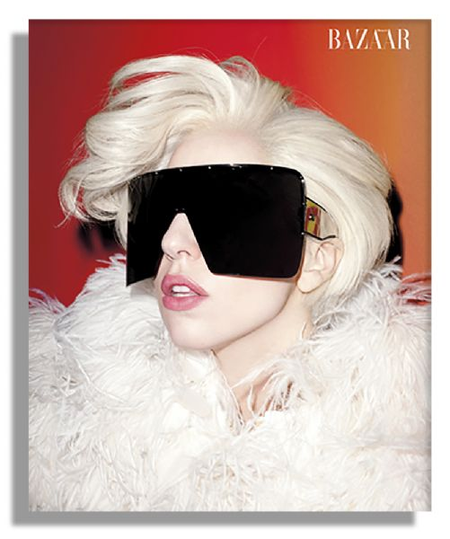 Lady Gaga Worn Moncler Gamme Rouge Jacket From ''Harper's Bazaar'' Cover Shoot