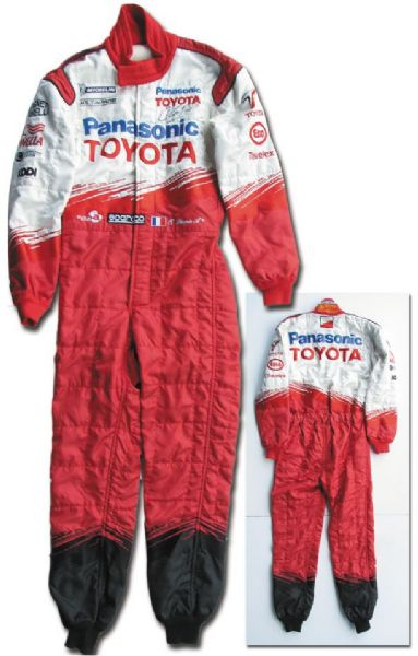 Oliver Panis Worn Race Suit Signed -- Worn During Formula One Seasons 2003 & 2004