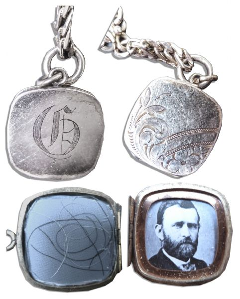 Collection of Ulysses S. Grant's Strands of Hair Encased in a Gold Locket