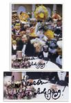 Jim Henson 8 x 10 Photo Signed, Posing With His Muppets -- Jim Henson + the whole gang!