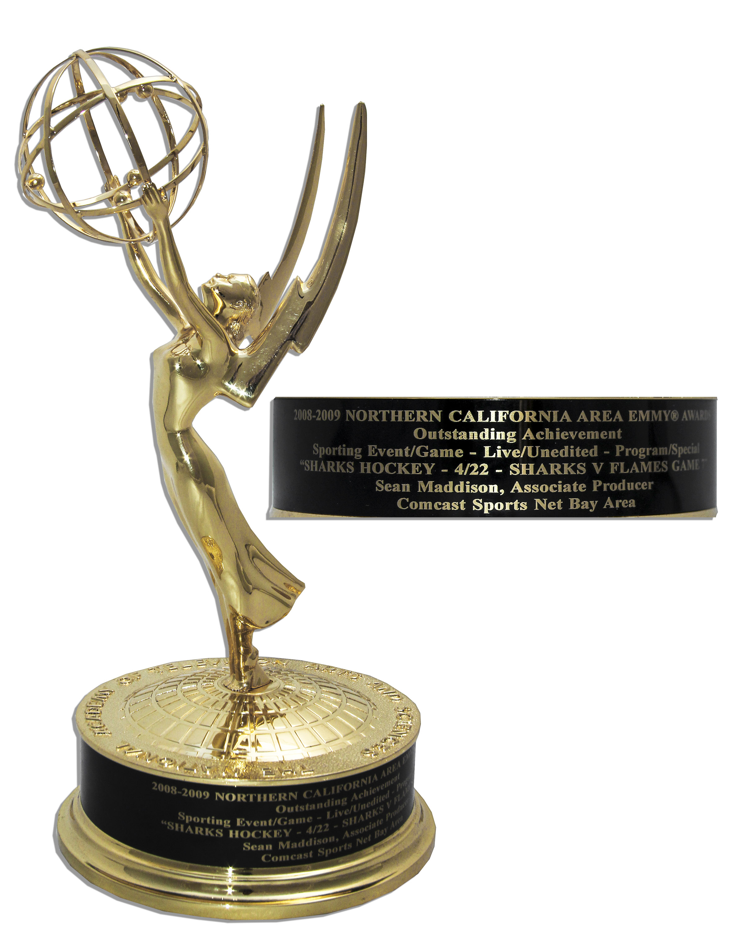 Lot Detail Northern California Regional Emmy Award For Live
