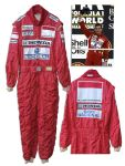 Ayrton Senna Rare Worn Racing Suit -- Extremely Rare Racing Suit by the Tragic Formula One Champion