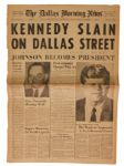 The Dallas Morning News Announces KENNEDY SLAIN ON DALLAS STREET
