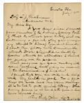 Abraham Lincoln Assassination Letter to Boarder at the Surratt House -- ...an imaginary attempt to kidnap President Lincoln...was suggested, no doubt, by Booths attempt at abduction...