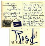 Rose Kennedy Handwritten Postcard From a Vacation in Switzerland -- ...I am at a hotel half-way up a mountain...