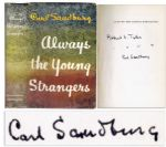Carl Sandburg Signs His Autobiography Always The Young Strangers