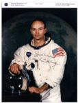Michael Collins Signed NASA 8 x 10 Photo -- Best Wishes / Michael Collins -- With NASA Backstamp -- Near Fine