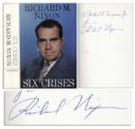 Richard Nixon Signed Copy of His Book Six Crises