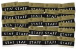 Collection of 26 Staff Badges for the Texas Welcome Dinner the Night JFK Was Assassinated