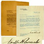 Franklin Roosevelt Letter Signed as President -- ...You are wholly right in regard to the polluted waters of the Hudson River...the problem is...not [for] the Federal Government...