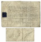 King George III Document Signed