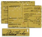 Robert Kennedy Signed Drivers License Application From 1964