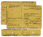 Driver License Application Signed & Filled Out by Jackie Kennedy in 1968