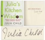 Julia Child Signed First Edition of Julias Kitchen Wisdom -- Fine
