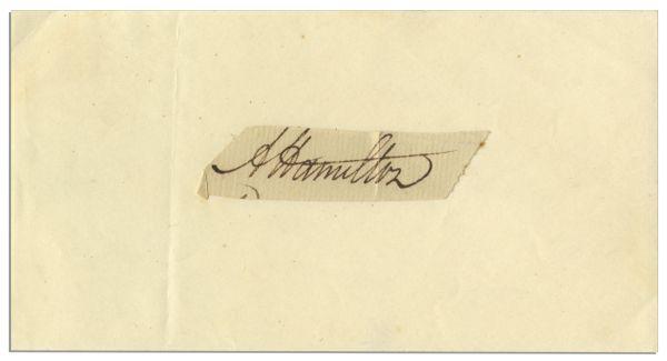 Alexander Hamilton autograph Alexander Hamilton Signature