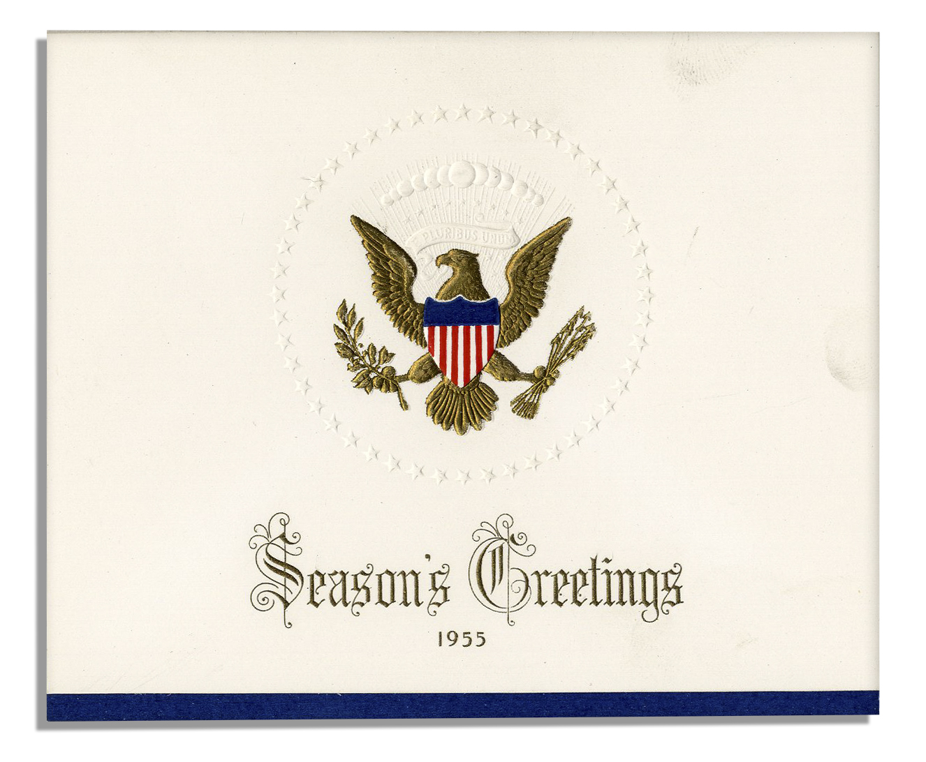 Lot Detail - Two Christmas Cards From the Eisenhower White House ...