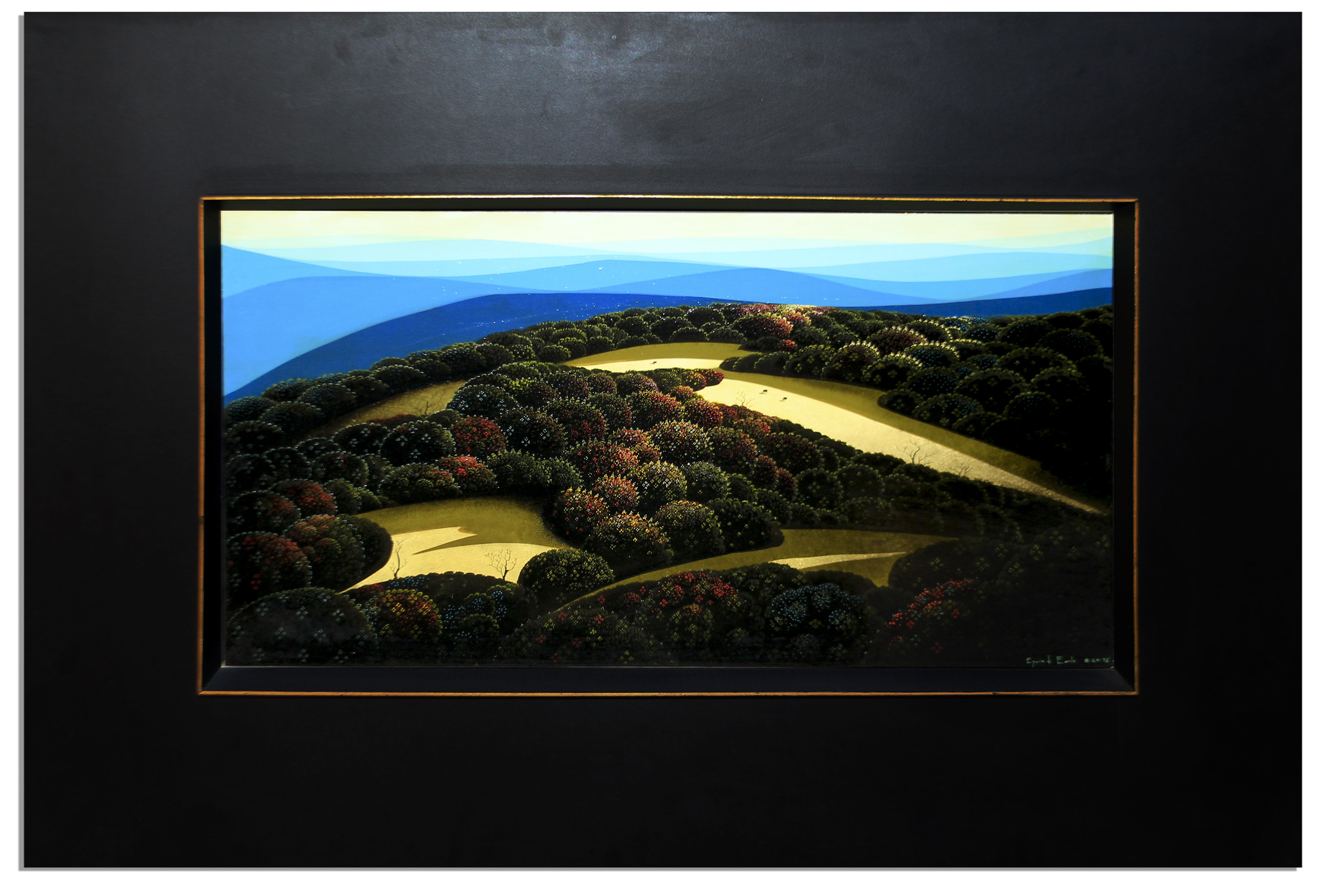 Eyvind Earle Art Eyvind Earle Large Oil Painting From Ray Bradbury's Personal Estate