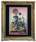 William Stout Original Basroomian Princess Painting -- From the Ray Bradbury Estate